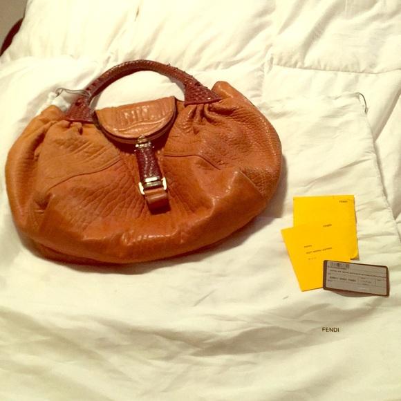 afb389bed493 Fendi Handbags - Fendi Spy Bag Tan Camel Leather